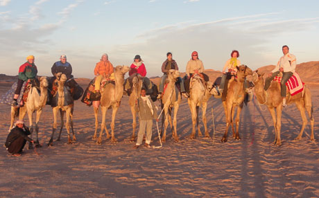 Group photo with camel